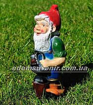 Садовая фигура Гном кузнец малый, фото 2