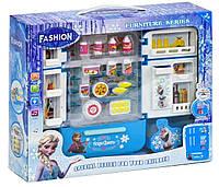 """Детский холодильник """"Frozen""""  с продуктами, свет, звук"""