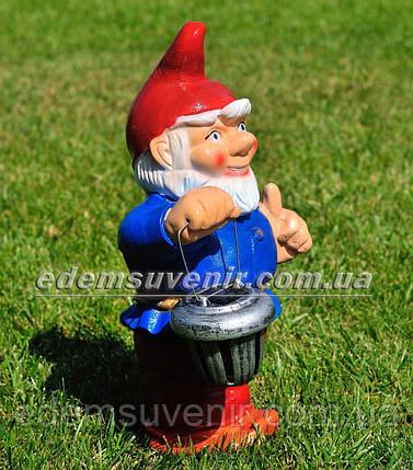 Садовая фигура Гном весельчак малый, фото 2
