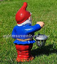 Садовая фигура Гном весельчак малый, фото 3