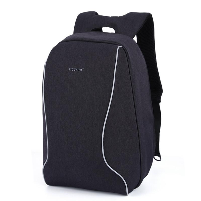 """Городской рюкзак для ноутбука 17"""" Тigernu (Тайгерну), черный цвет"""