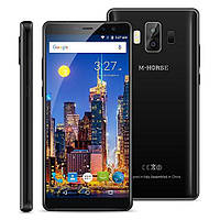 "Смартфон M-Horse Pure 1 Black 3/32Gb, 8+2/5+2Мп, MT6737H, 2sim, 5.7"" IPS, 4380мАч, GPS, 4 ядра, 4G"