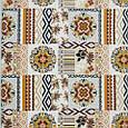 Гобелен етно декоративна тканина для скатертини, диванних подушок - національний орнамент помаранчевий, фото 2