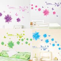 Распродажа - наклейка на стену Цветы и бабочки