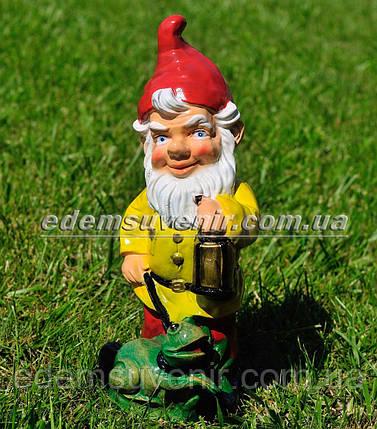 Садовая фигура Гном сторож малый, фото 2