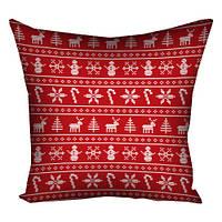Подушка з принтом Новорічні візерунки (3P_NGNAS038)