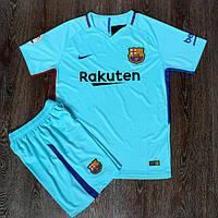 Футбольная форма Барселоназапасная сезон 2017-2018 (бирюзовая)
