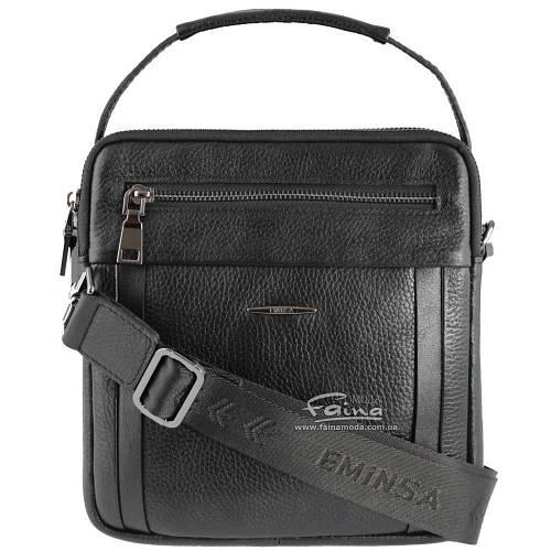 Мужская кожаная сумка чёрная Eminsa 6136-37-1  продажа bdc67bc01af0a