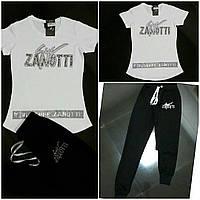 Летний спортивный костюм ZANOTTI белый верх черный низ AMN ТУРЦИЯ БРЕНД  ОРИГИНАЛ d10d47e96ae