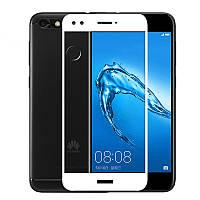 Защитное стекло Huawei Nova Lite 2017 / P9 Lite Mini / Enjoy 7 / SLA-L22 Full cover белый 0,26мм в упаковке
