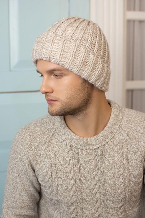 Зимний мужская шапка «Балтимор» Светлый кофе