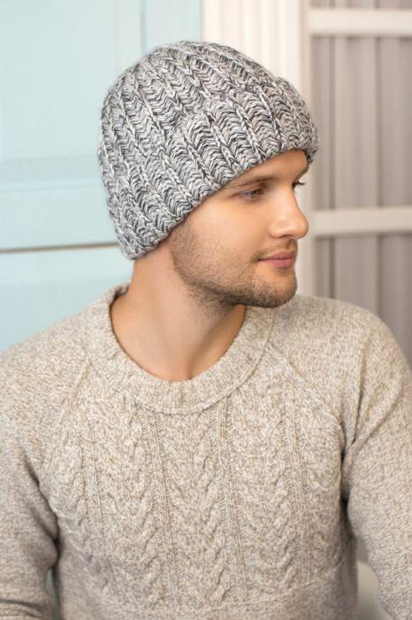 Зимний мужская шапка «Балтимор» Темно-серый