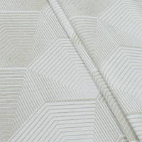 Декоративная ткань, геометрический принт, бежево-молочный