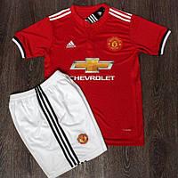 Футбольная форма Манчестер Юнайтед основная сезон 2017-2018 (красная)