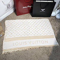 Шарф Louis Vuitton 19011 молочно-бежевый