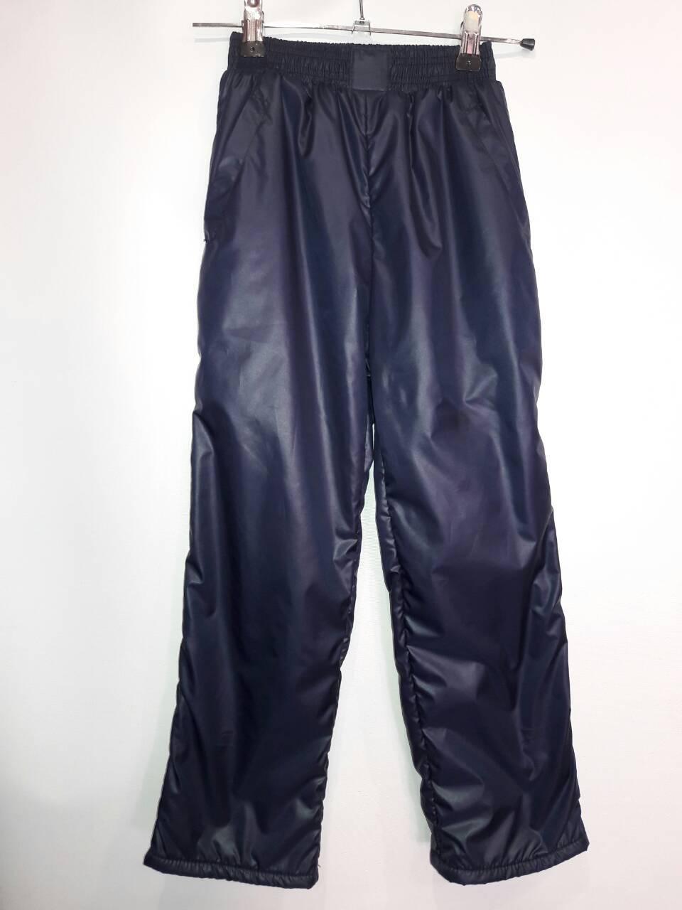 Подростковые брюки плащевка на флисе 116-140 см