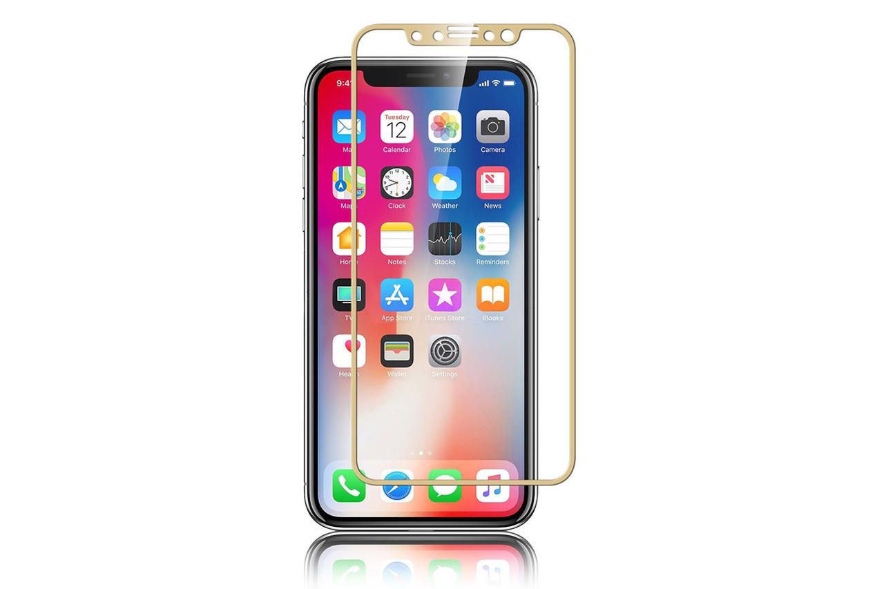 d581092aafc7 Купить Защитное стекло Apple Iphone X Full cover золотой 0,26мм в ...
