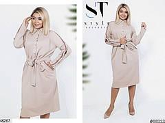 Женское демисезонное платье-рубашка размеры: 50-52,54-56, фото 2