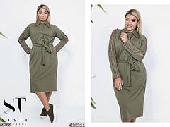 Женское демисезонное платье-рубашка размеры: 50-52,54-56, фото 3