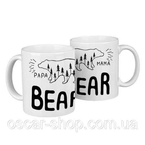 Чашки парные Bear  / чашки на подарок / набор чашек 330 мл