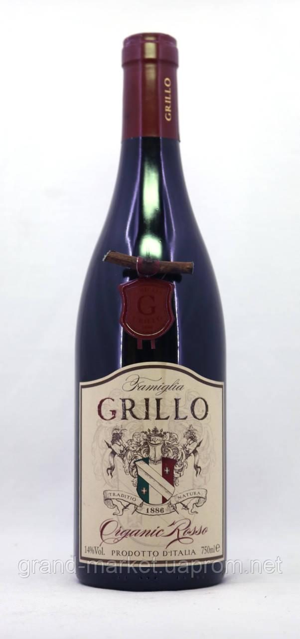 """Вино червоне """"Famiglia Grillo 1886 Organic Rosso"""" 0.75 l"""