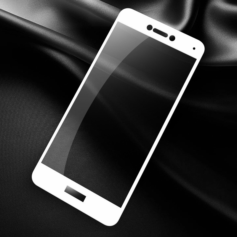 Защитное стекло Huawei P8 Lite 2017 / P9 Lite 2017 / PRA-LX1 Full cover белый 0,26мм в упаковке