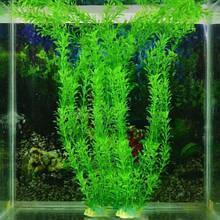 Штучні рослини в акваріум - довжина з каменем 32см, пластик