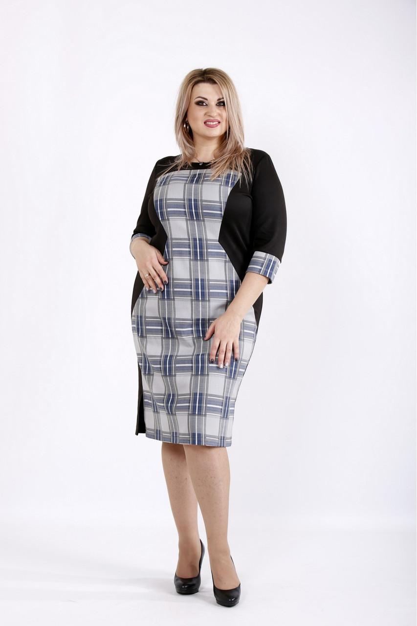 Деловое демисезонное женское платье размеры 42-74