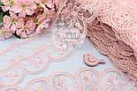 Кружево с бантиками и ромбами, цвет пыльной розы, ширина 10 см., фото 2