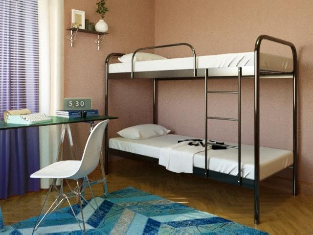 Кровать металлическая РЕЛАКС ДУО (Relax DUO) двухъярусная
