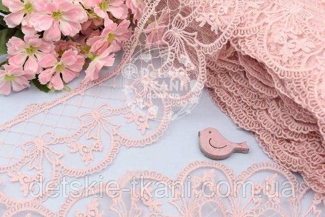кружево текстильное с бантиками