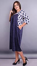 Женское платье трикотажное большие размеры: 52-64, фото 3