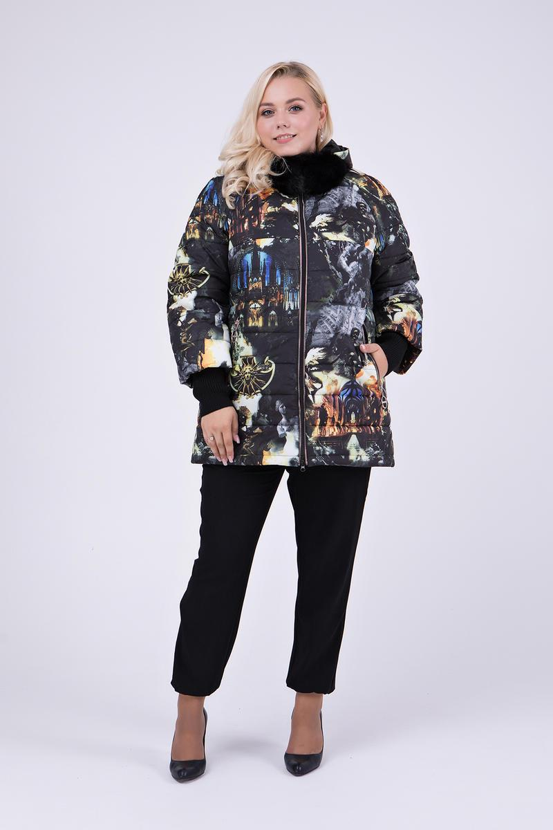 Зимний пуховик-куртка   с натуральным мехом на капюшоне  Большие размеры от 48 до 68