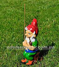 Садовая фигура Гном рыбачок (М), фото 2