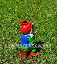 Садовая фигура Гном рыбачок (М), фото 3