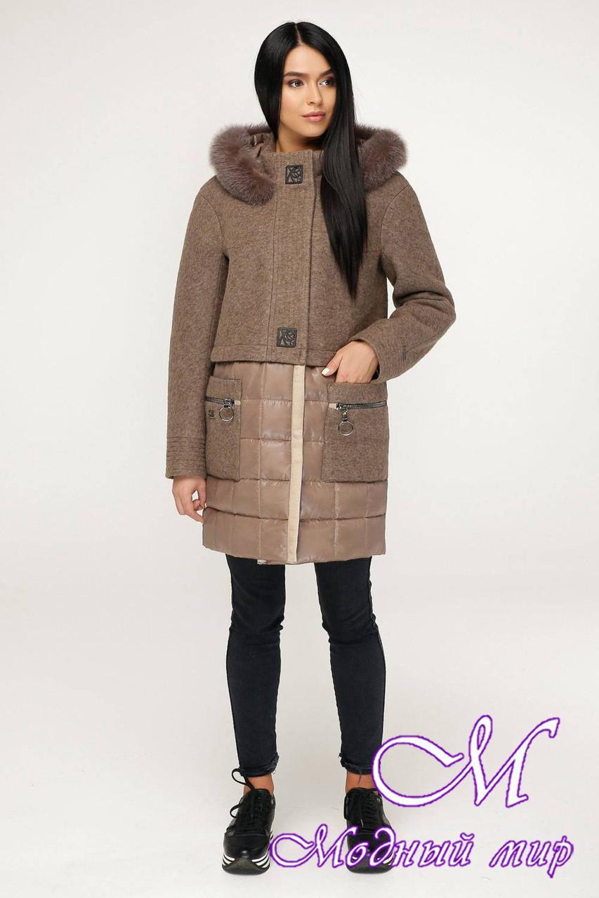 Женское зимнее пальто с капюшоном (р. 44-54) арт. 1069 Тон 145