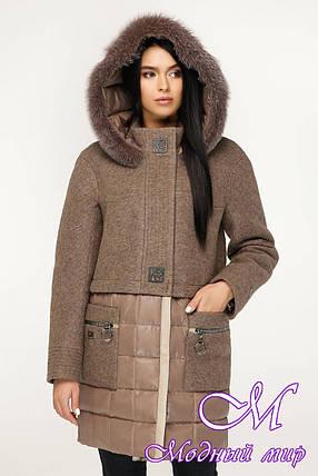 Женское зимнее пальто с капюшоном (р. 44-54) арт. 1069 Тон 145, фото 2
