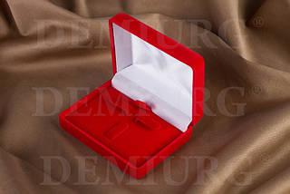 Подарочный футляр красный для ювелирный украшений