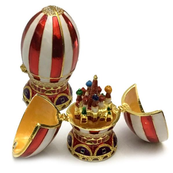 Сувенирная шкатулка яйцо в стиле Фаберже