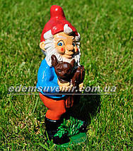 Садовая фигура Гном лесничий малый, фото 3