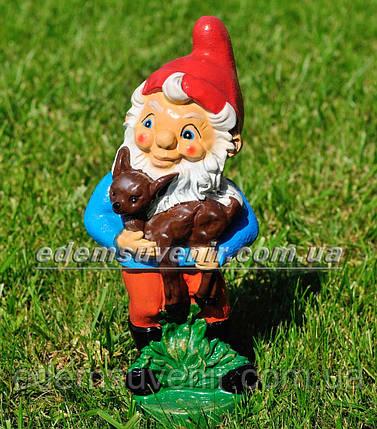 Садовая фигура Гном лесничий малый, фото 2