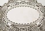 Антикварная ваза из серебра, фруктовница, конфетница, серебро 925, Англия,  Jenkins & Timm, Sheffield 1900 год, фото 7