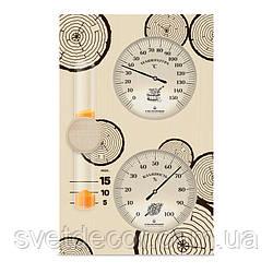 """Банная Станция - Термометр и Гигрометр в Баню и Сауну - Песочные Часы -  """"Банная станция"""" Исп. 2"""