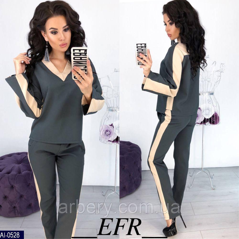 e52feb0d587 Женский нарядный брючный костюм с лампасами  продажа