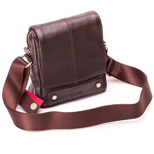 Мужская сумка кожаная коричневая Eminsa 6070-12-3  продажа 16a4c3db5eec0