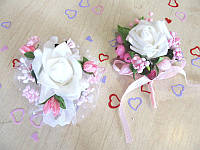 Набор свадебных бутоньерок Bonita розовый