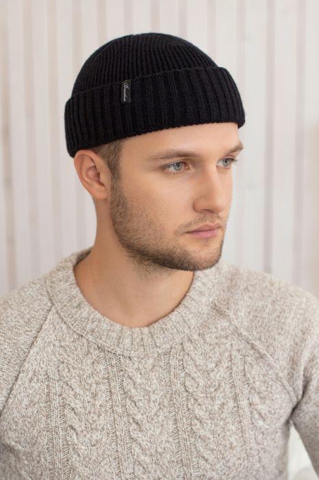 Зимний мужская шапка «Окленд» Черный