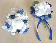 Набор свадебных бутоньерок Bonita синий