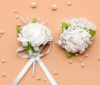 Набор свадебных бутоньерок Bonita белый