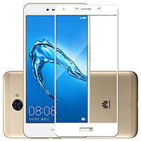 Защитное стекло Huawei Y7 2017 / Y7 Prime / Enjoy 7 Plus / Nova Lite Plus Full cover белый 0,26мм в упаковке